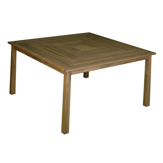 House Bay Table de jardin carrée en acacia Fsc longueur 140cm Cenari