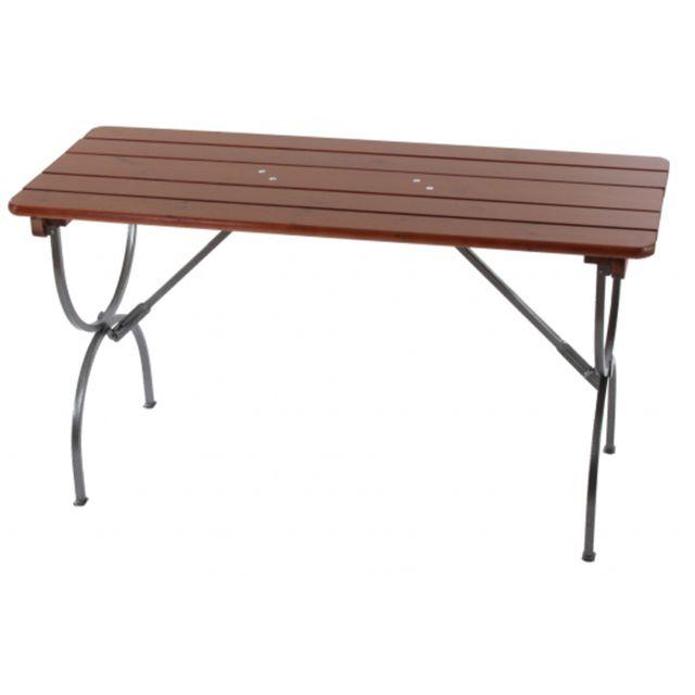 Pegane - Table de jardin pliable Linz, 180 cm Marron - 180cm x 70cm ...