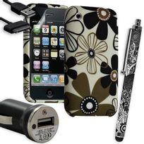 Karylax - Housse Étui Coque en Gel + Chargeur Voiture Auto + Stylet pour Apple Iphone 3G / 3GS avec motif Hf28