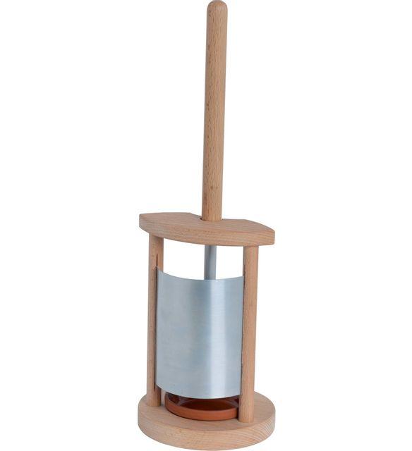 burstenhaus redecker porte brosse wc en bois et zinc multicolore pas cher achat vente. Black Bedroom Furniture Sets. Home Design Ideas
