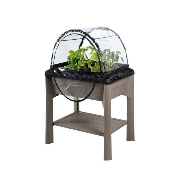 eda espace potager veg et table avec serre taupe pas cher achat vente carr potager. Black Bedroom Furniture Sets. Home Design Ideas