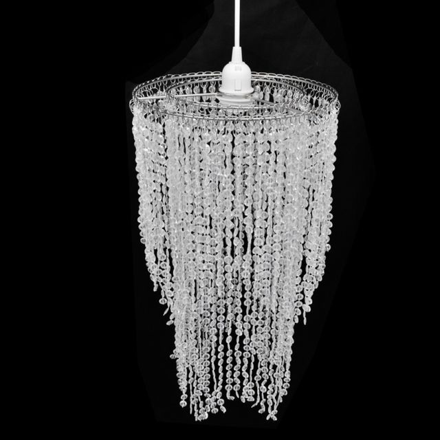 Casasmart Lustre suspendu en cristal 26,5 x 50 cm