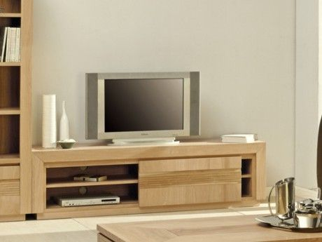 VENTE-UNIQUE - Meuble TV SYMPHONIE - 1 porte coulissante - 2 ...