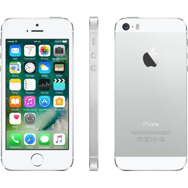 APPLE - iPhone 5S - 16 Go - Argent - Reconditionné