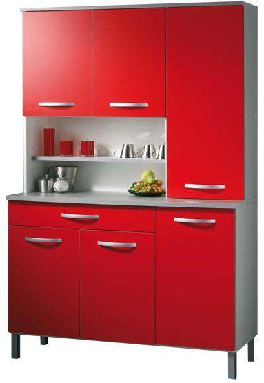 comforium buffet de cuisine moderne 100 cm coloris rouge et blanc c augustyn pas cher achat. Black Bedroom Furniture Sets. Home Design Ideas