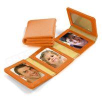 Volumica - Album Photos zig-zag cuir Orange Beaubourg