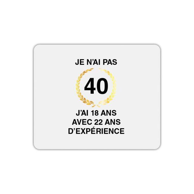 Mygoodprice Tapis De Souris Rectangle Anniversaire 40 Ans Pas