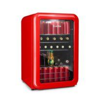 KLARSTEIN - PopLife Réfrigérateur à boissons Minibar 115 litres 0-10°C design rétro rouge