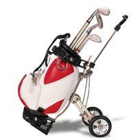 Totalcadeau - 3 stylos clubs de golfeur dans sac de golf rouge
