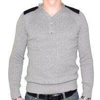 Stef Wear - Pull Col V 5 Boutons - Homme - Stef 724 - Gris