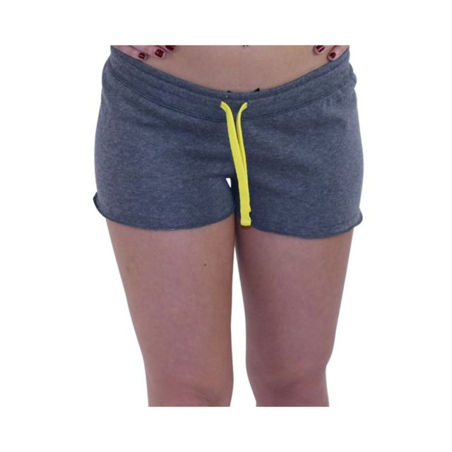 7d158afe6271d Waxx - Short en molleton Gris Femme Gris Xl - pas cher Achat / Vente Short  femme - RueDuCommerce