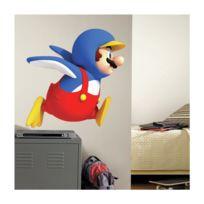 Mon Beau Tapis - Stickers Nintendo Super Mario Wii Penguin Géant Roommates Repositionnables 86x71cm