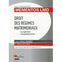 Gualino - droit des régimes matrimoniaux 2015-2016