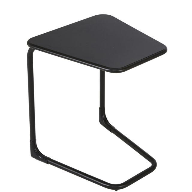 CARREFOUR Table latérale - Noir