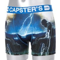 Capster'S Official - Boxer Homme Microfibre Foo Bleu