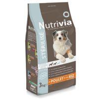 Nutrivia - Croquettes au Poulet pour Chien de Moyenne et Grande Taille Stérilisé - 3Kg