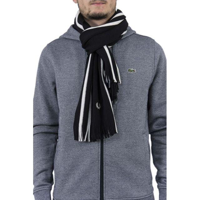 fbbea0e28298 Fred Perry - Echarpe c2111 noir - pas cher Achat   Vente Echarpes, foulards  - RueDuCommerce