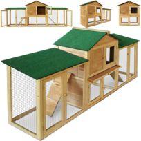 Rocambolesk - Superbe Clapier à lapin - cage rongeurs modulable sur 2 étages - enclos petits animaux Neuf