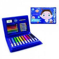 Créateur de génie - Mallette de coloriage Bleu 25 pcs