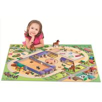 House Of Kids - Tapis enfant jeu circuit Connecte Equestre Tapis Enfants par