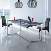 meubler design table manger en verre design bruce - Table En Verre Salle A Manger