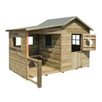 - Maison de jardin en bois Hacienda 243x125x175cm