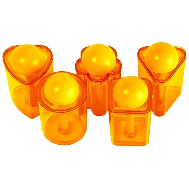 Promobo Set Découpe Toast Emporte Pièce Apéro Avec Poussoir Multiformes Orange