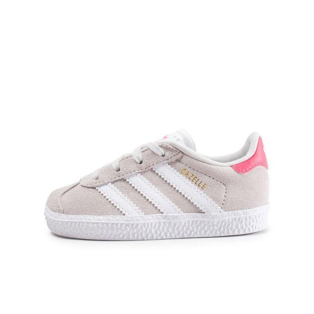 plus récent 2e27a a01fc Adidas originals - Gazelle Bébé Grise Et Rose - pas cher ...