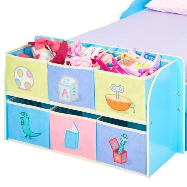 ENSEMBLE DE MEUBLES DE CHAMBRE HORS LIT Lit pour enfants avec cubes de rangement a jouets
