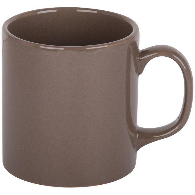 Promobo Mug Tasse A Café Platine Design City Gris Taupe 10cm