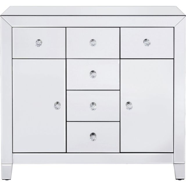 Karedesign Commode Luxury argent 2 portes 6 tiroirs Kare Design
