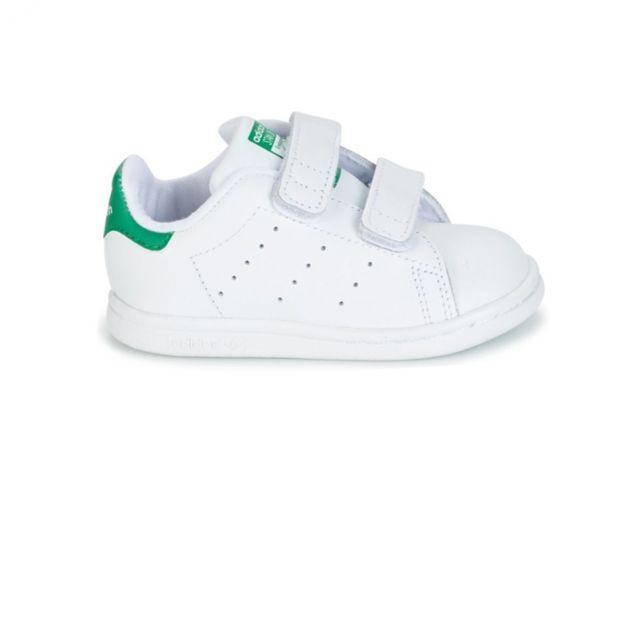 Adidas Chaussure Stan Smith enfant BlancVert pas cher