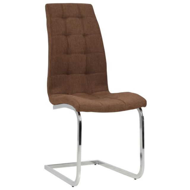 Chaise de salle à manger 2 pcs Tissu 42,5x61x104,5 cm Marron | Brun MeublesFauteuilsChaises de cuisine et de salle à manger | Brun | Brun