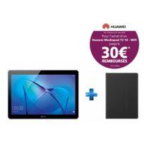 HUAWEI - MediaPad T3 10 - 9.6'' HD IPS - 16 Go - Gris + Cover T3 10'' Flip Cover Black