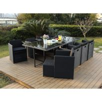 Beautiful Salon De Jardin En Resine Tressee Luxe Poly Rotin Noir ...