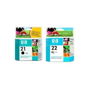 HP - Multipack cartouches d'encre n°21 Noir + n°22 Couleur Magenta, Cyan, Jaune