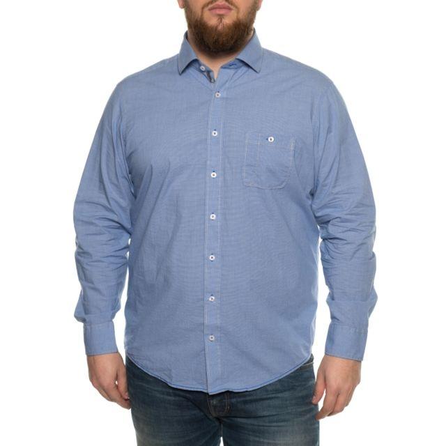 &TRADITION Chemise à petits motifs bleu
