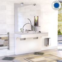 Creazur - Meuble double vasque ÉPURE 120 - Blanc