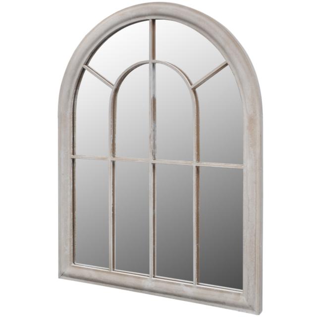 Rocambolesk - Superbe Miroir de Jardin Arche rustique 89 x 69 cm Intérieur et Extérieur Neuf