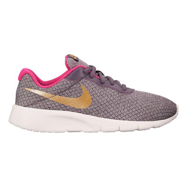 Nike - Chaussures Tanjun Gs gris doré rose enfant Multicolour - 37 1 ... cdf79356af18
