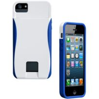 Case Mate - Coque Case-Mate Pop porte cartes pour Apple iPhone 5s et 5 Blanc Bleu