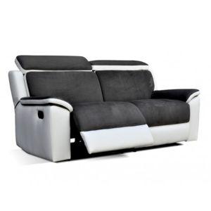 Venteunique Canapé Places Relax En Simili Et Microfibre Souffle - Achat canapé relax