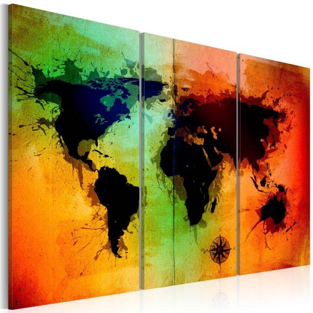 Bimago - Tableau - Terres noires - triptyque