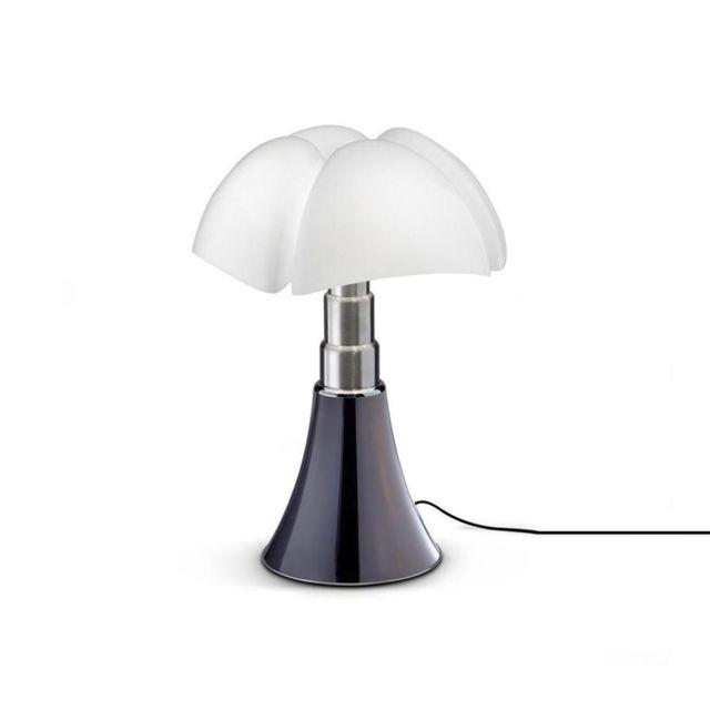 Martinelli Luce Mini Pipistrello-lampe Dimmer Touch Led H35cm Titane - designé par Gae Aulenti