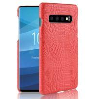 bd1d6e9e1b Wewoo - Coque rigide Crocodile antichoc Texture Pc + Etui Pu pour Galaxy  S10 Rouge