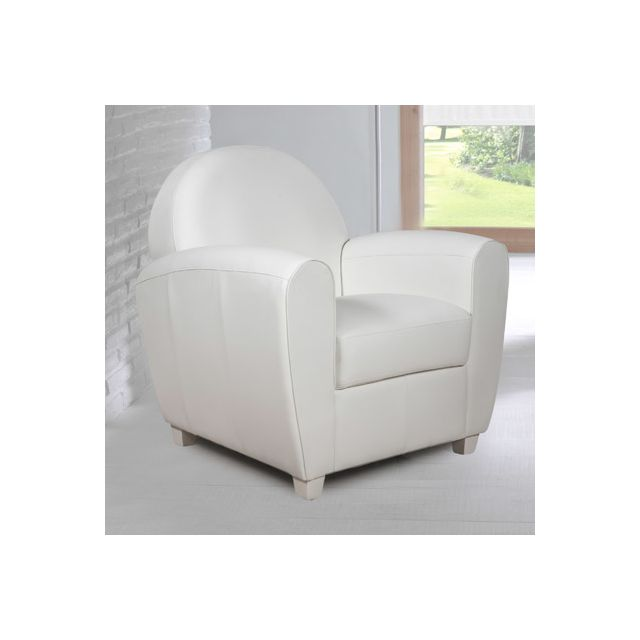 fauteuil en pvc blanc club sebpeche31. Black Bedroom Furniture Sets. Home Design Ideas