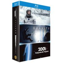 coffret voyage dans l'espace blu-ray : interstellar + gravity + 2001, l'odyssée de l'espace