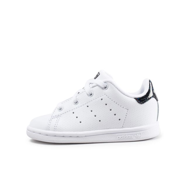 finest selection ece87 0aa50 Adidas originals - Stan Smith Bébé Blanche Et Noire Iridescent