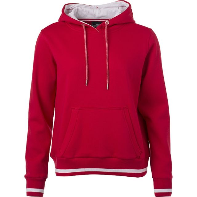 JAMES & NICHOLSON Sweat shirt à capuche femme - Jn777 - rouge