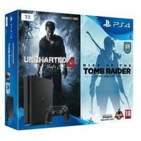 SONY - PACK PS4 Slim 1 To D + Uncharted 4 + Tomb Raider